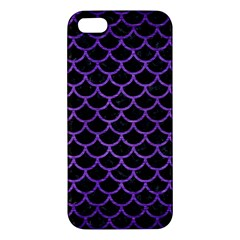 Scales1 Black Marble & Purple Brushed Metal (r) Iphone 5s/ Se Premium Hardshell Case by trendistuff
