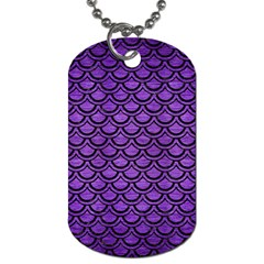 Scales2 Black Marble & Purple Brushed Metal Dog Tag (two Sides) by trendistuff