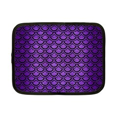 Scales2 Black Marble & Purple Brushed Metal Netbook Case (small)  by trendistuff