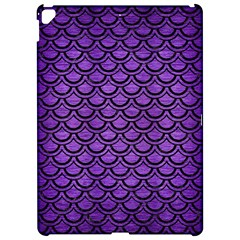Scales2 Black Marble & Purple Brushed Metal Apple Ipad Pro 12 9   Hardshell Case by trendistuff