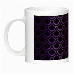 Scales2 Black Marble & Purple Brushed Metal (r) Night Luminous Mugs by trendistuff