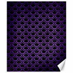 Scales2 Black Marble & Purple Brushed Metal (r) Canvas 8  X 10  by trendistuff