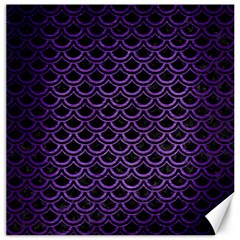 Scales2 Black Marble & Purple Brushed Metal (r) Canvas 12  X 12   by trendistuff