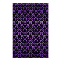 Scales2 Black Marble & Purple Brushed Metal (r) Shower Curtain 48  X 72  (small)  by trendistuff