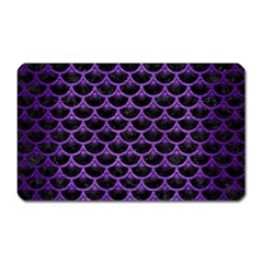 Scales3 Black Marble & Purple Brushed Metal (r) Magnet (rectangular) by trendistuff