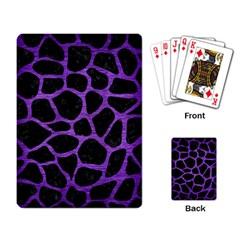 Skin1 Black Marble & Purple Brushed Metal Playing Card by trendistuff