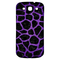 Skin1 Black Marble & Purple Brushed Metal Samsung Galaxy S3 S Iii Classic Hardshell Back Case by trendistuff