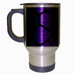Skin1 Black Marble & Purple Brushed Metal (r) Travel Mug (silver Gray) by trendistuff