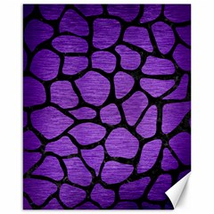 Skin1 Black Marble & Purple Brushed Metal (r) Canvas 16  X 20   by trendistuff