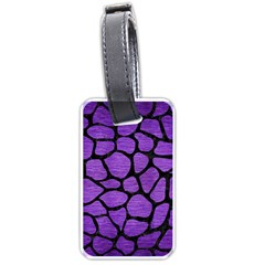 Skin1 Black Marble & Purple Brushed Metal (r) Luggage Tags (two Sides) by trendistuff