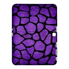 Skin1 Black Marble & Purple Brushed Metal (r) Samsung Galaxy Tab 4 (10 1 ) Hardshell Case  by trendistuff