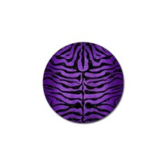 Skin2 Black Marble & Purple Brushed Metal Golf Ball Marker (10 Pack) by trendistuff