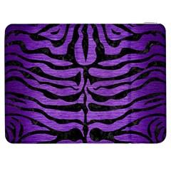 Skin2 Black Marble & Purple Brushed Metal Samsung Galaxy Tab 7  P1000 Flip Case by trendistuff