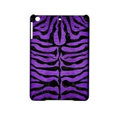 Skin2 Black Marble & Purple Brushed Metal Ipad Mini 2 Hardshell Cases by trendistuff