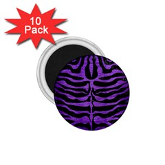 Skin2 Black Marble & Purple Brushed Metal (r) 1 75  Magnets (10 Pack)  by trendistuff