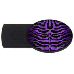 Skin2 Black Marble & Purple Brushed Metal (r) Usb Flash Drive Oval (2 Gb) by trendistuff