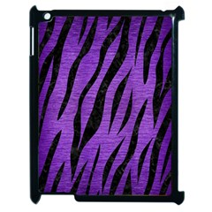 Skin3 Black Marble & Purple Brushed Metal Apple Ipad 2 Case (black) by trendistuff