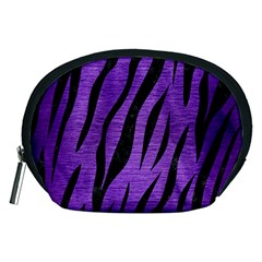 Skin3 Black Marble & Purple Brushed Metal Accessory Pouches (medium)  by trendistuff
