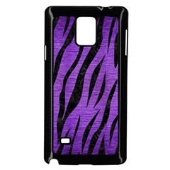 Skin3 Black Marble & Purple Brushed Metal Samsung Galaxy Note 4 Case (black) by trendistuff