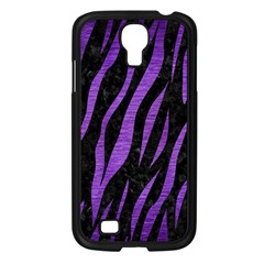 Skin3 Black Marble & Purple Brushed Metal (r) Samsung Galaxy S4 I9500/ I9505 Case (black) by trendistuff
