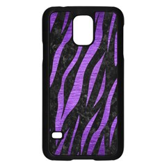 Skin3 Black Marble & Purple Brushed Metal (r) Samsung Galaxy S5 Case (black) by trendistuff