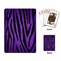 Skin4 Black Marble & Purple Brushed Metal (r) Playing Card by trendistuff