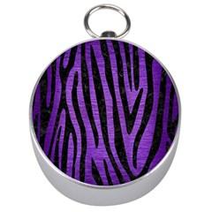Skin4 Black Marble & Purple Brushed Metal (r) Silver Compasses by trendistuff