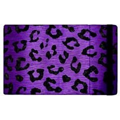 Skin5 Black Marble & Purple Brushed Metal (r) Apple Ipad 2 Flip Case by trendistuff