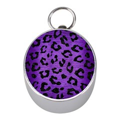 Skin5 Black Marble & Purple Brushed Metal (r) Mini Silver Compasses by trendistuff