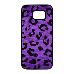 Skin5 Black Marble & Purple Brushed Metal (r) Samsung Galaxy S7 Edge Black Seamless Case by trendistuff