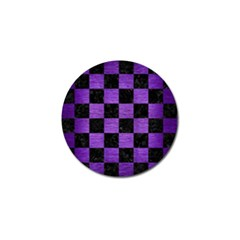 Square1 Black Marble & Purple Brushed Metal Golf Ball Marker by trendistuff