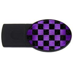 Square1 Black Marble & Purple Brushed Metal Usb Flash Drive Oval (2 Gb) by trendistuff