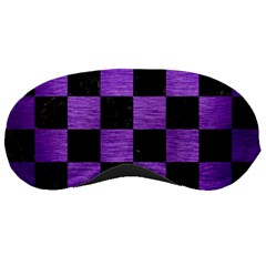 Square1 Black Marble & Purple Brushed Metal Sleeping Masks by trendistuff