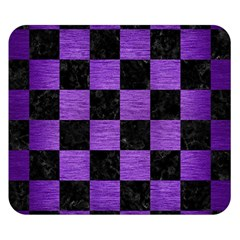 Square1 Black Marble & Purple Brushed Metal Double Sided Flano Blanket (small)  by trendistuff