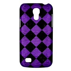 Square2 Black Marble & Purple Brushed Metal Galaxy S4 Mini by trendistuff