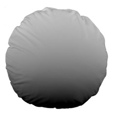 Fade To Black Magic Ombre Shade Large 18  Premium Flano Round Cushion  by Beachlux