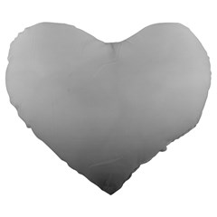 Fade To Black Magic Ombre Shade Large 19  Premium Flano Heart Shape Cushion by Beachlux