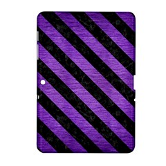 Stripes3 Black Marble & Purple Brushed Metal Samsung Galaxy Tab 2 (10 1 ) P5100 Hardshell Case  by trendistuff