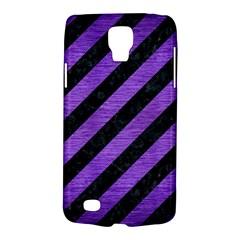 Stripes3 Black Marble & Purple Brushed Metal (r) Galaxy S4 Active by trendistuff
