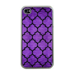 Tile1 Black Marble & Purple Brushed Metal Apple Iphone 4 Case (clear)