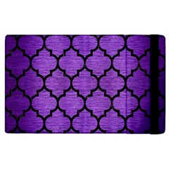 Tile1 Black Marble & Purple Brushed Metal Apple Ipad 2 Flip Case by trendistuff