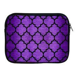 Tile1 Black Marble & Purple Brushed Metal Apple Ipad 2/3/4 Zipper Cases by trendistuff