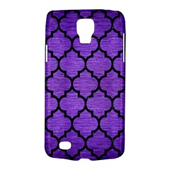 Tile1 Black Marble & Purple Brushed Metal Galaxy S4 Active by trendistuff