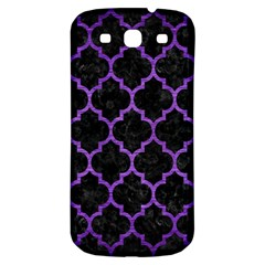 Tile1 Black Marble & Purple Brushed Metal (r) Samsung Galaxy S3 S Iii Classic Hardshell Back Case by trendistuff