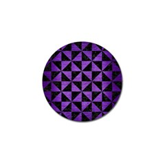 Triangle1 Black Marble & Purple Brushed Metal Golf Ball Marker by trendistuff