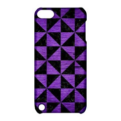 Triangle1 Black Marble & Purple Brushed Metal Apple Ipod Touch 5 Hardshell Case With Stand by trendistuff