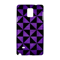 Triangle1 Black Marble & Purple Brushed Metal Samsung Galaxy Note 4 Hardshell Case by trendistuff