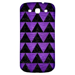 Triangle2 Black Marble & Purple Brushed Metal Samsung Galaxy S3 S Iii Classic Hardshell Back Case by trendistuff