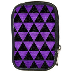 Triangle3 Black Marble & Purple Brushed Metal Compact Camera Cases by trendistuff