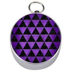 Triangle3 Black Marble & Purple Brushed Metal Silver Compasses by trendistuff